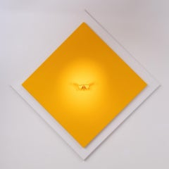 Anatomia Yellow I - 21st Century, Contemporary Figurative, Golden Butterflies