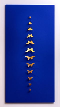 Metamorphosis Redux - 21st Century, Contemporary Figurative, Golden Butterflies