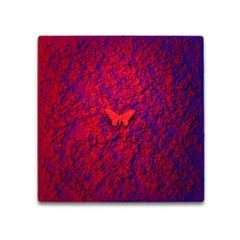 Vanish 01.05 Blue Red R - 21st Century, Contemporary, Figurative, Red Butterfly