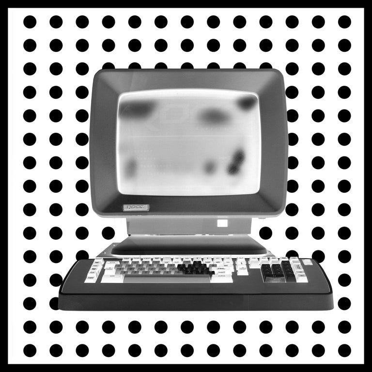 Samuel Field Black and White Photograph - Alpha - Personal Computer Series - Black and White Graphic Photography