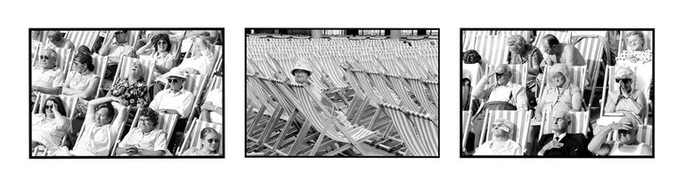 Bandstand, Eastbourne - Black & White Photography Triptych - Gray Black and White Photograph by Samuel Field