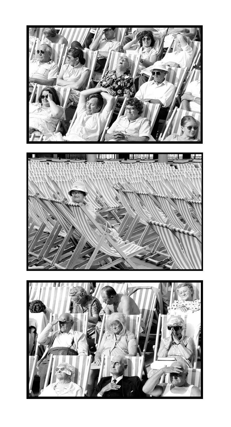 Samuel Field Portrait Photograph - Bandstand, Eastbourne - Black & White Photography Triptych