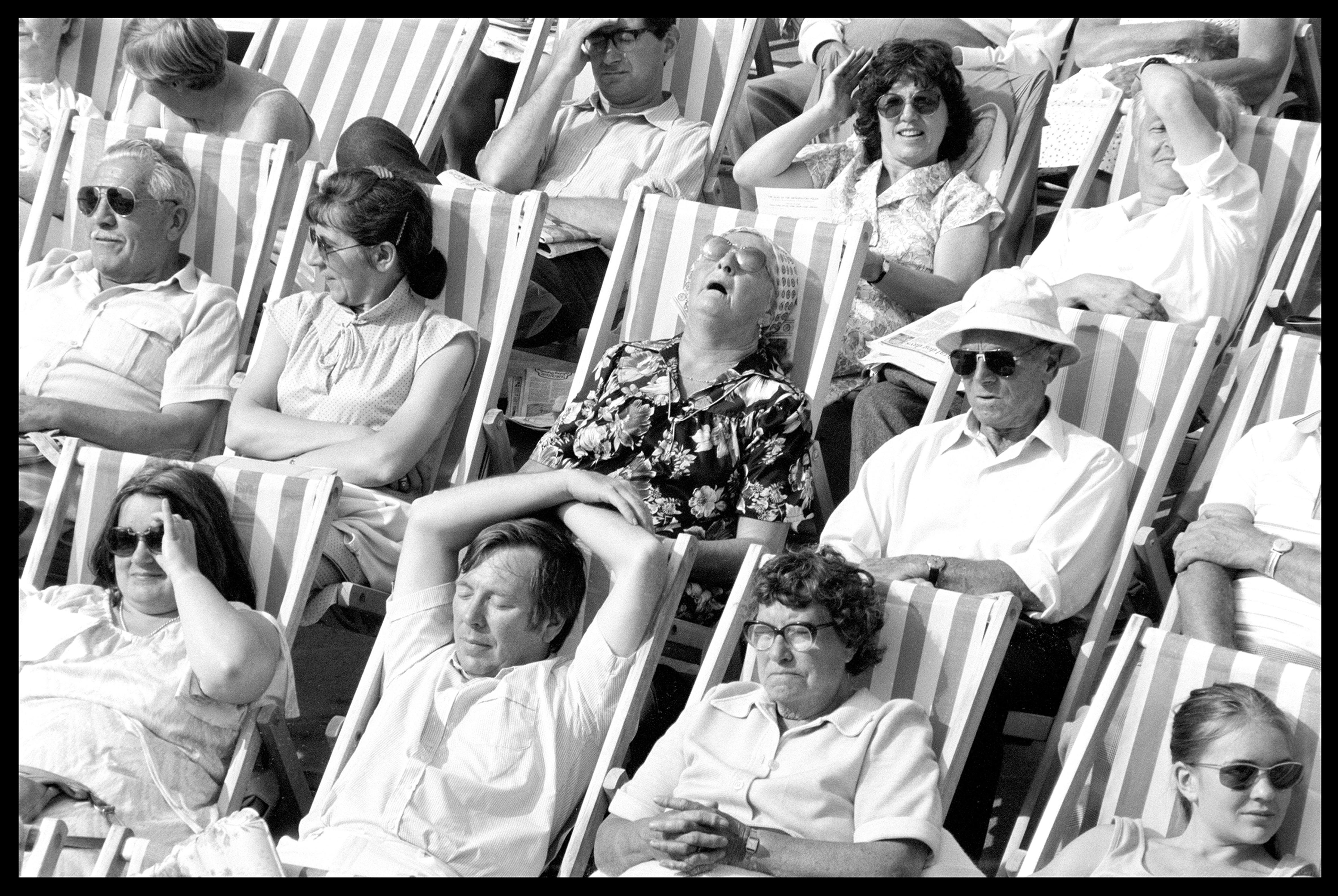 Bandstand I, Eastbourne - Black and White Vintage Portrait Photography