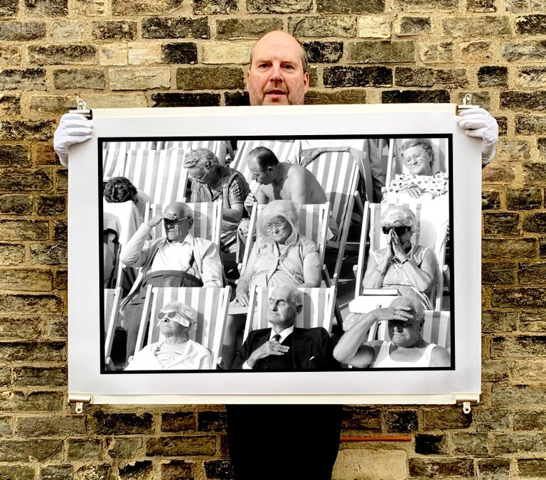 Bandstand II, Eastbourne - Black and White Vintage Portrait Photography - Print by Samuel Field