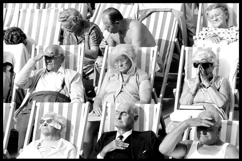 Bandstand II, Eastbourne - Black and White Vintage Portrait Photography