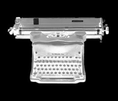 Orthochromatic Negative - Small Print Black & White Photography of a Typewriter