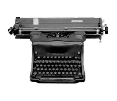 Orthochromatic Positive (Antique Olivetti Typewriter)