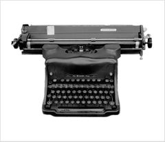 Orthochromatic Positive - Black & White Photography of a Typewriter