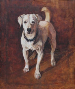Sniper - War Hero - Scottish dog artist world war one hero oil painting Staffie