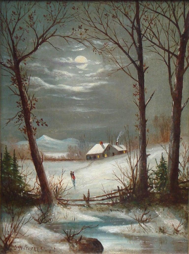 Samuel Griggs Landscape Painting - [Mount Washington Winter Scene]