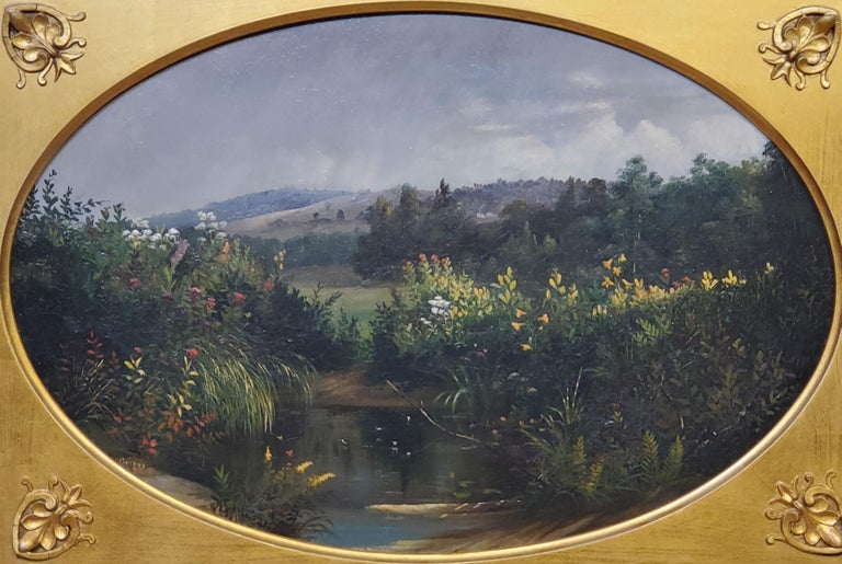 Oval landscape Study by Samuel Griggs For Sale 1