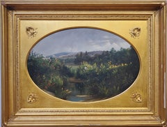 Oval landscape Study by Samuel Griggs