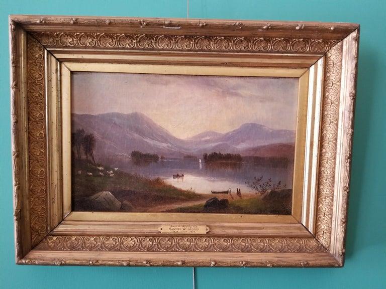 Sunrise on Lake George New York - Painting by Samuel Griggs