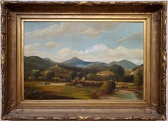 View of Mount Chocurua New Hampshire Landscape Painting Signed By Samuel Griggs