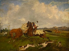 'Young Hunters' - A hunting scene