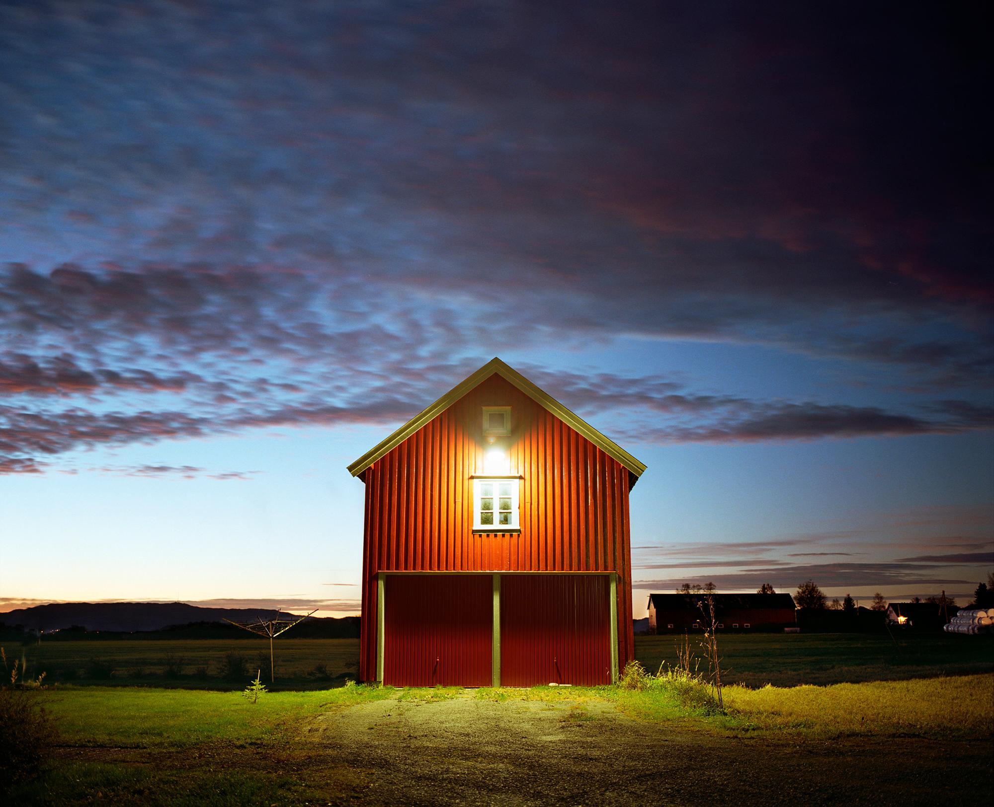 Barn - Samuel Hicks, Contemporary, Photography, Landscape, Sunset, Nature