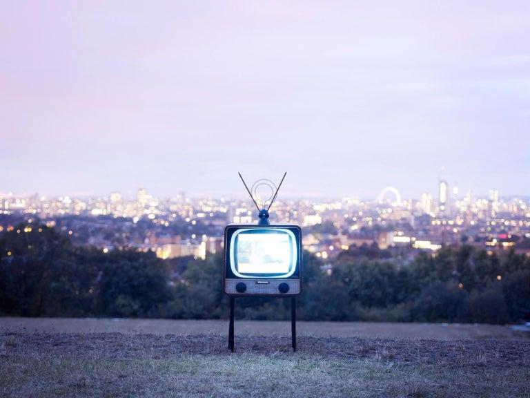 TV 1 - Samuel Hicks, London, Landscape, Nature, Floral, Contemporary Photography - Gray Landscape Photograph by Samuel Hicks