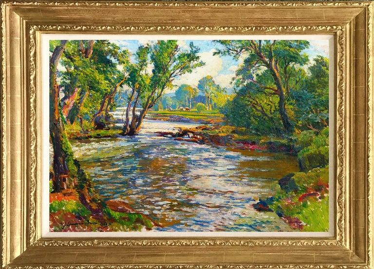 Samuel John Lamorna Birch Landscape Painting - The Shady Pool