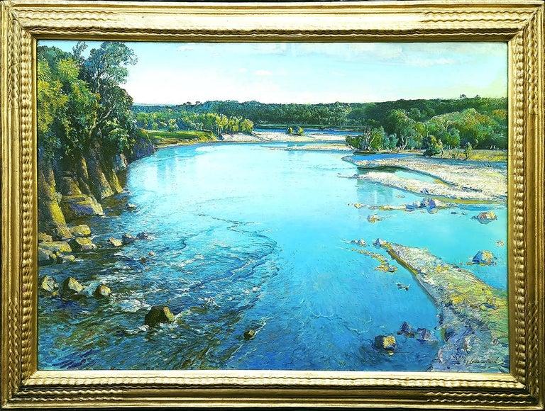 Samuel John Lamorna Birch Landscape Painting - The Shimmering Spey