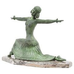 Samuel Lipchytz Art Deco Dancer Sculpture, 1920s