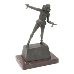 Samuel Lipchytz Sculpture Bronze Harlequin