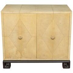 Samuel Marx Style Parchment Clad Cabinet