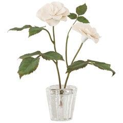 Samuel Mazy White Porcelain Rosebush Sculpture