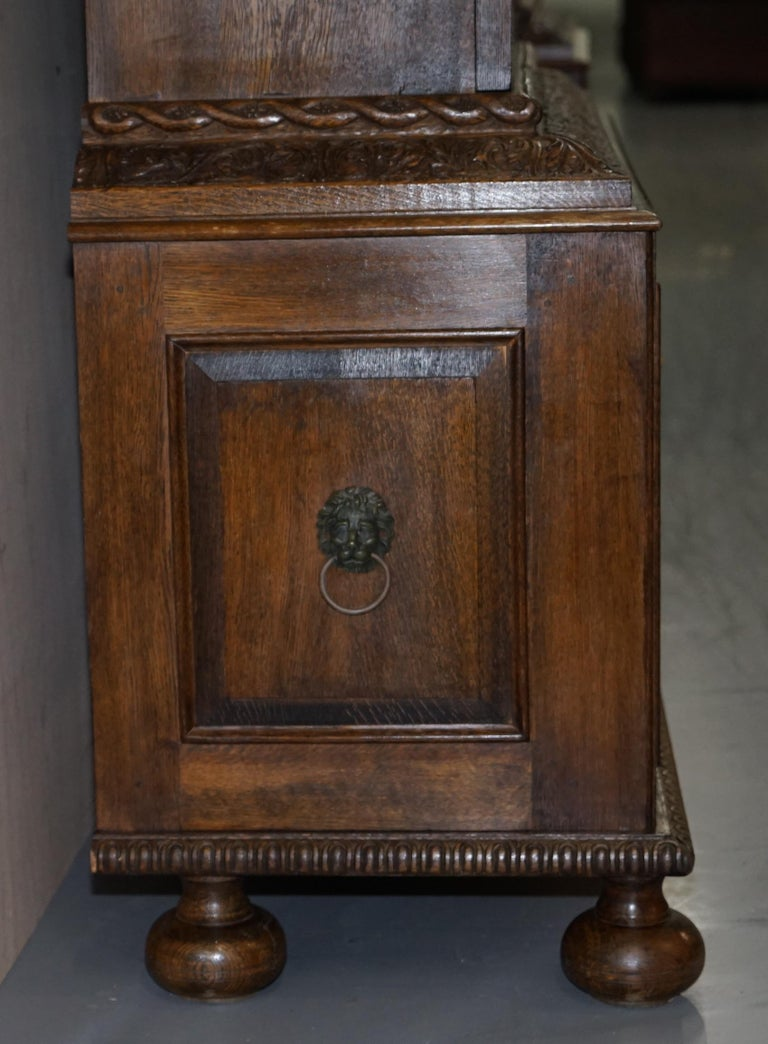 Samuel Pepys 1666 Oak Library Bookcases Pair High Provenance Carved by Forsyth For Sale 4