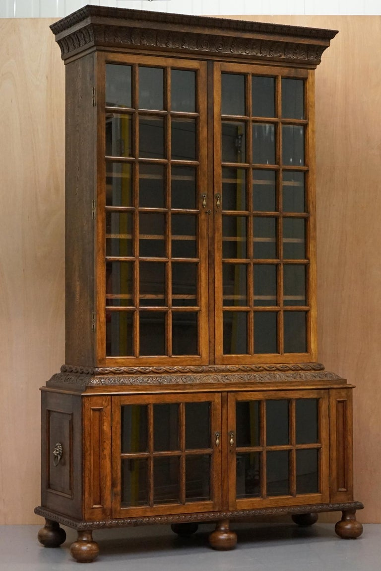 Samuel Pepys 1666 Oak Library Bookcases Pair High Provenance Carved by Forsyth For Sale 7