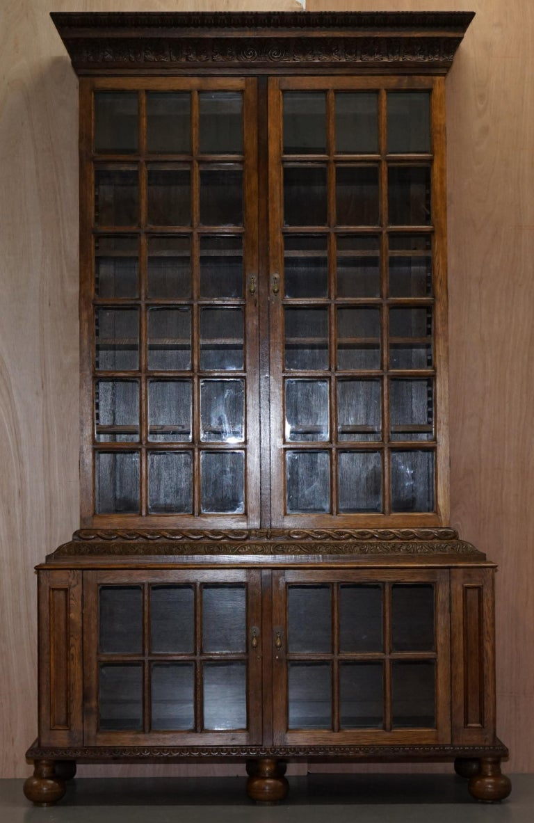 Samuel Pepys 1666 Oak Library Bookcases Pair High Provenance Carved by Forsyth For Sale 8