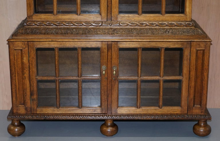 Samuel Pepys 1666 Oak Library Bookcases Pair High Provenance Carved by Forsyth For Sale 9