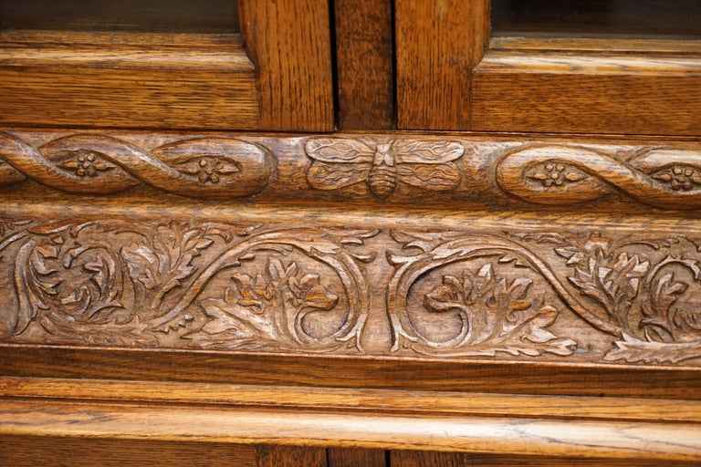 Samuel Pepys 1666 Oak Library Bookcases Pair High Provenance Carved by Forsyth For Sale 10