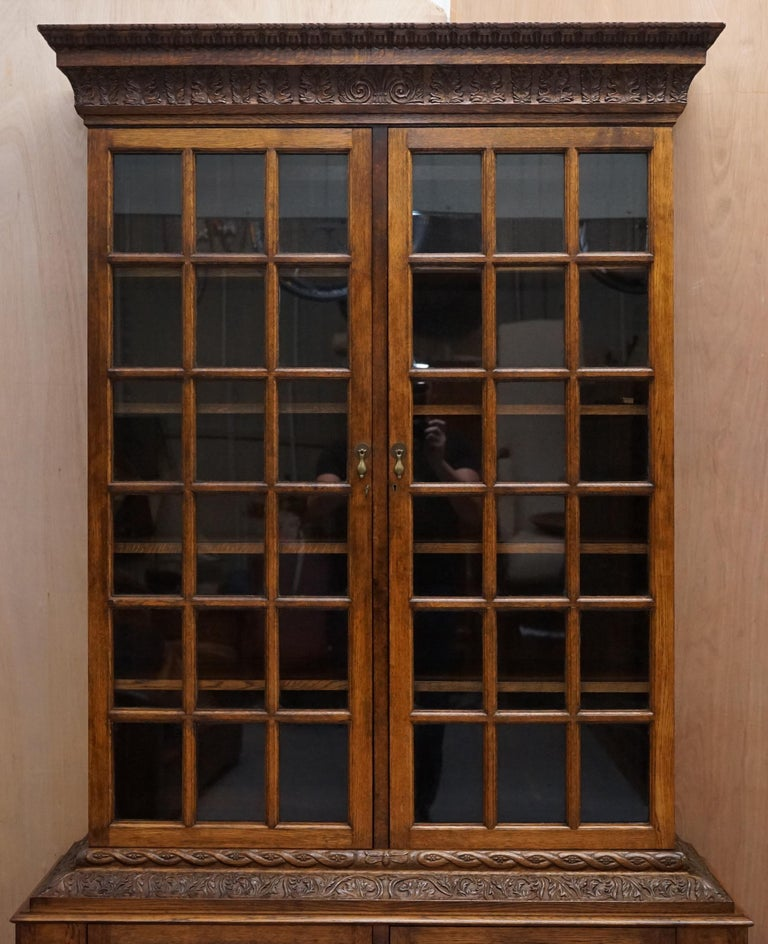 Samuel Pepys 1666 Oak Library Bookcases Pair High Provenance Carved by Forsyth For Sale 11