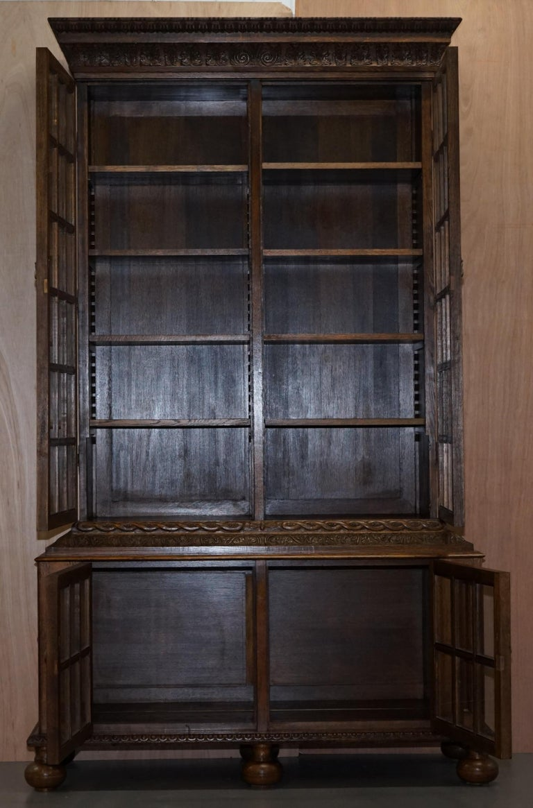 Samuel Pepys 1666 Oak Library Bookcases Pair High Provenance Carved by Forsyth For Sale 12