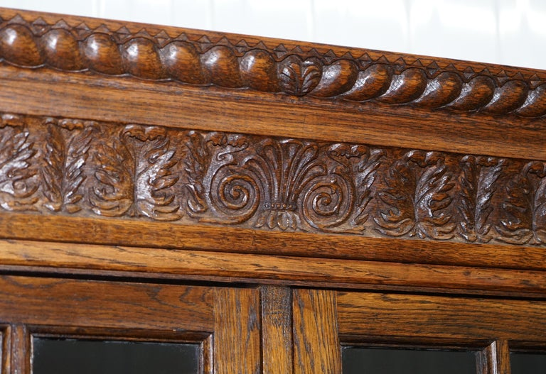 English Samuel Pepys 1666 Oak Library Bookcases Pair High Provenance Carved by Forsyth For Sale