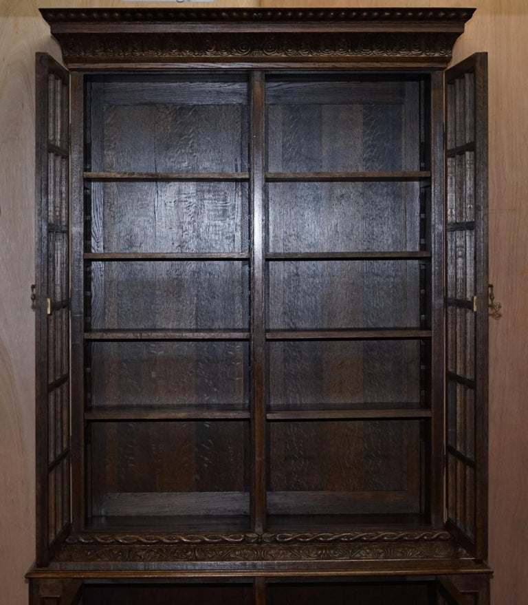 Samuel Pepys 1666 Oak Library Bookcases Pair High Provenance Carved by Forsyth For Sale 1