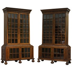 Samuel Pepys 1666 Oak Library Bookcases Pair High Provenance Carved by Forsyth