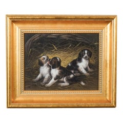 Samuel Raven Early 19th Century Playful Puppies/Dogs Playing