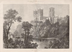 Durham Cathedral, C19th English topographical engraving, by Samuel Read, 1873