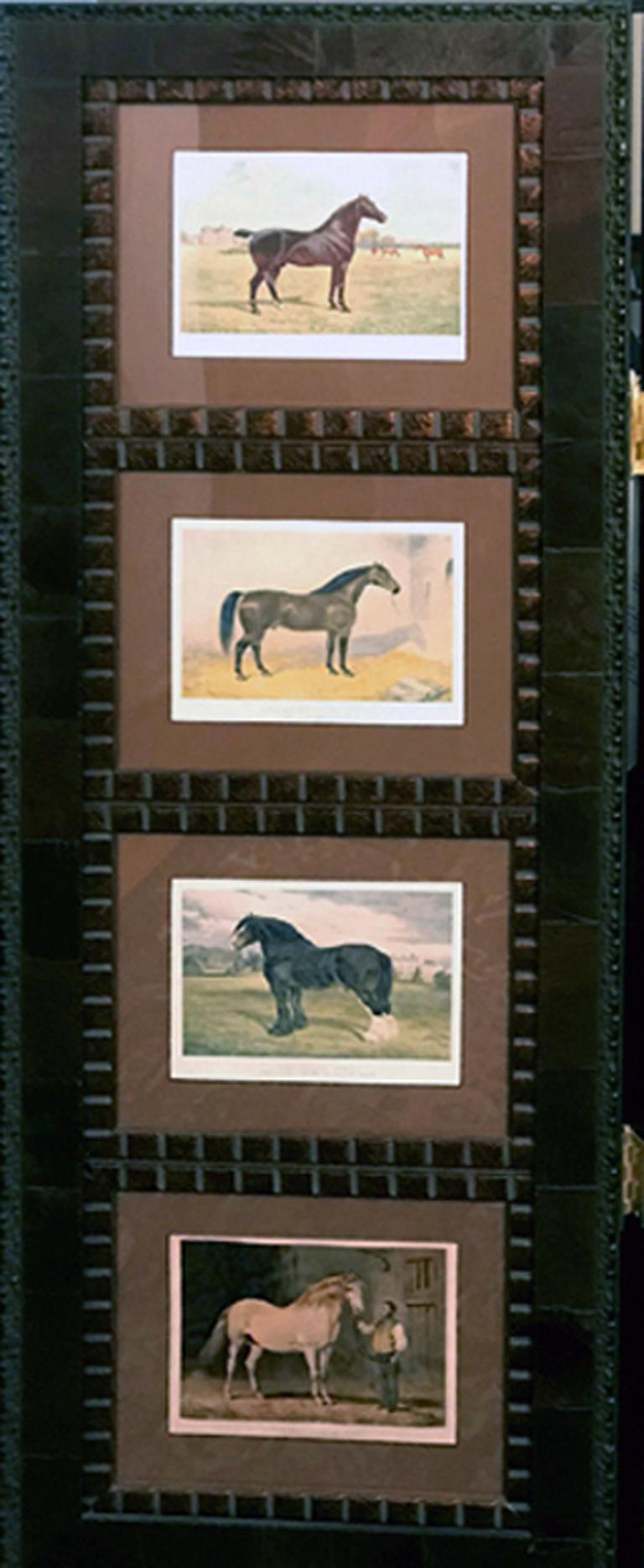 Samuel Sidney Horse 12 Images Cassell 3 Panel Screen Wood For Sale At 1stdibs