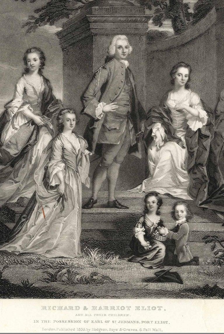 Richard and Harriet Elliot - Romantic Print by Samuel William Reynolds