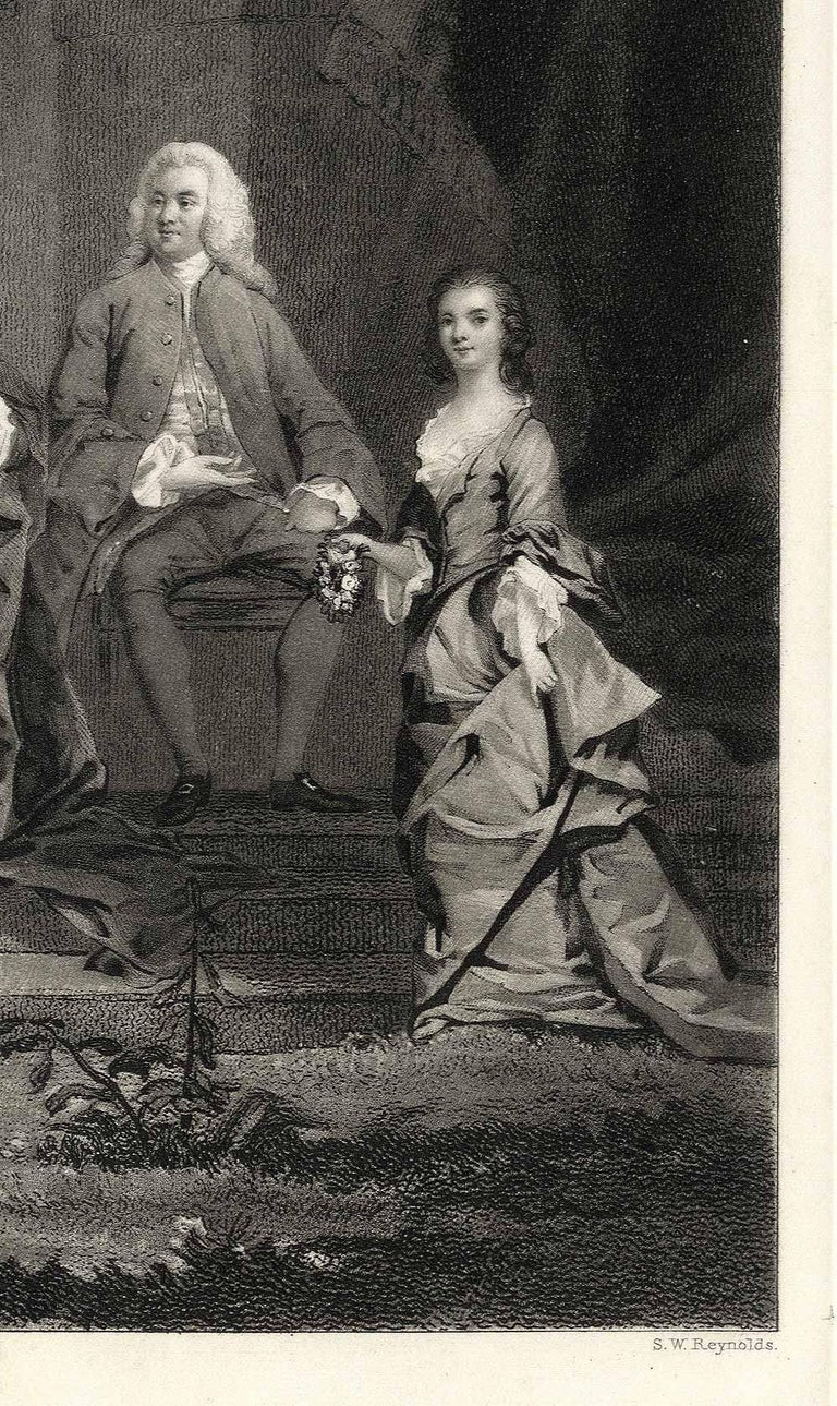 This is a mezzotint on steel published in London in 1833, and created after the image created by Sir Joshua Reynolds.  Reynolds studied art in London under Charles Howard Hodges and John Raphael Smith. His first engraved portrait, a study of George
