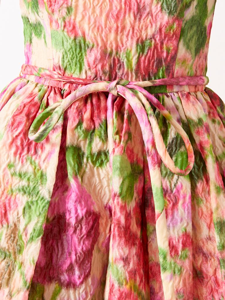 Samuel Winston Floral Pattern Dress C. 1960 In Good Condition For Sale In New York, NY