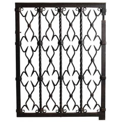Samuel Yellin Wrought Iron Gate, Signed