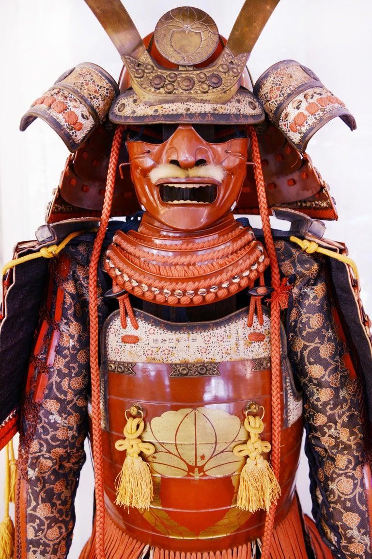 Japanese Samuraï Armor Ka-To Crest Dai-Myo Family For Sale