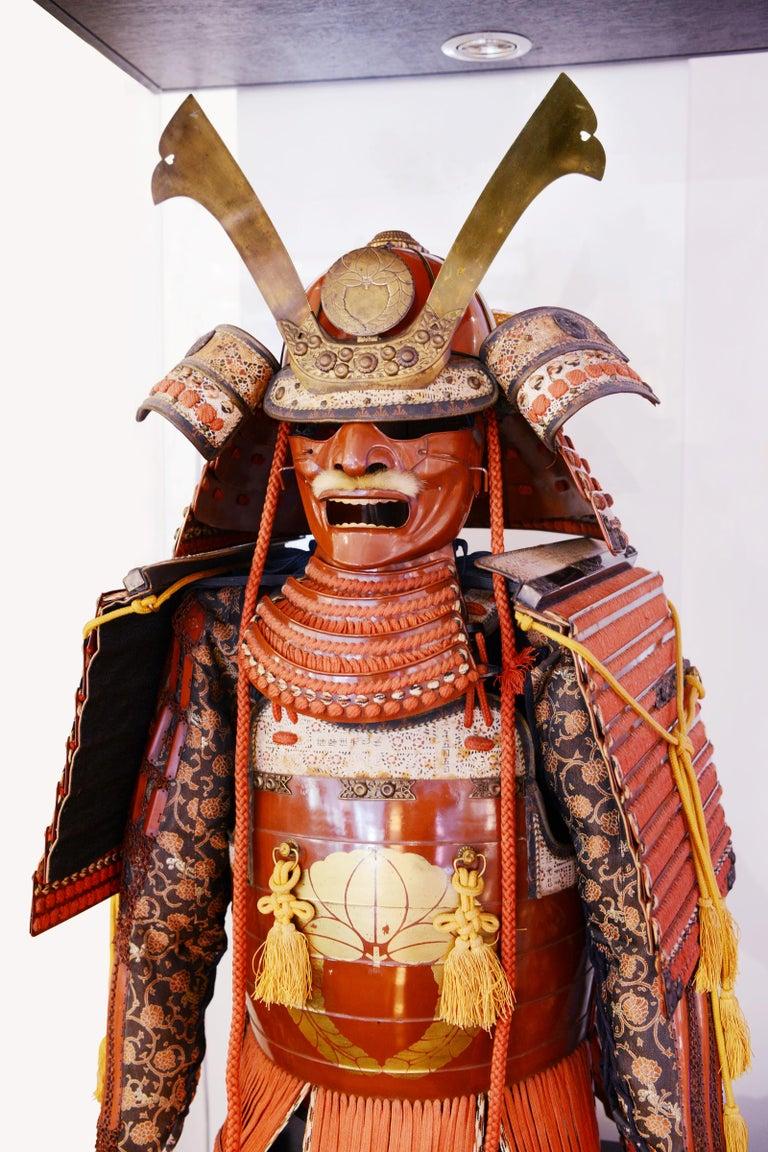 Samuraï Armor Ka-To Crest Dai-Myo Family In Good Condition For Sale In Paris, FR