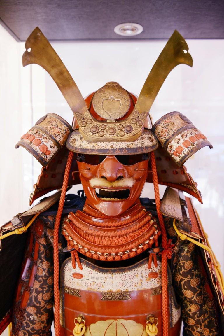 20th Century Samuraï Armor Ka-To Crest Dai-Myo Family For Sale