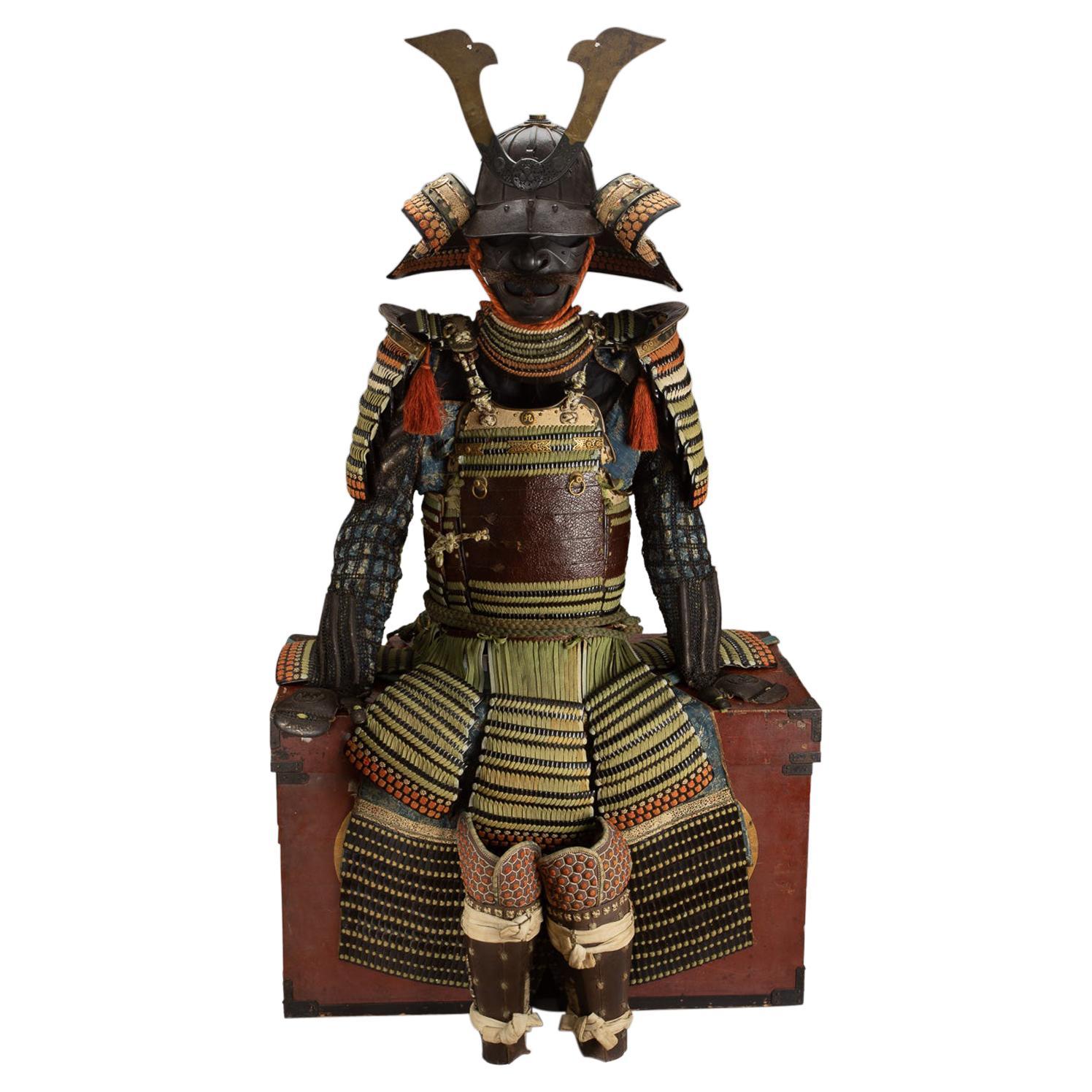 """Samurai Armor with """"Kyu"""" Kamon, Mid Edo Period, 18th Century"""