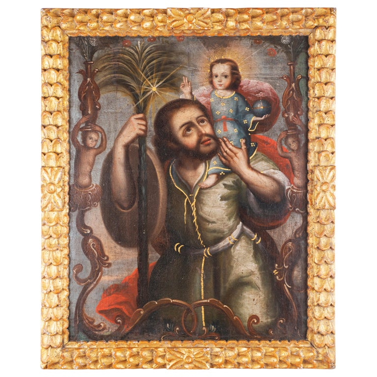 San Cristobal Con Cristo Niño For Sale
