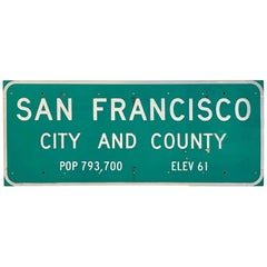 San Francisco Freeway City Limit Sign